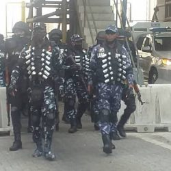 Police Take Over Lekki Toll Plaza, Display Show Of Force Ahead Of Saturday's Protest